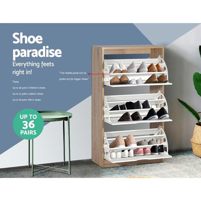 Artiss 36 Pairs Shoe Cabinet Rack Organiser Storage Shelf