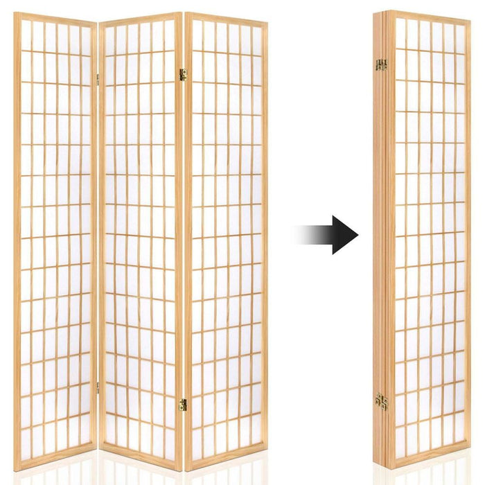 Artiss 6 Panel Room Divider Privacy Screen Foldable Pine
