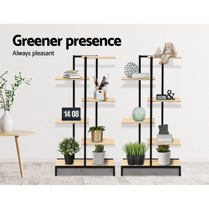 Multi-tier Indoor Outdoor Metal Wooden Plant Stands Garden