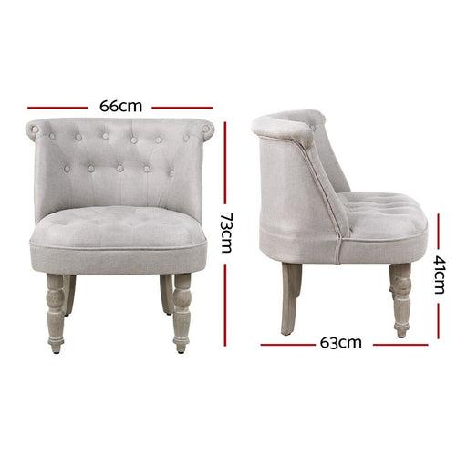 Artiss Armchair Lorraine Accent Chair Sofa Chairs French