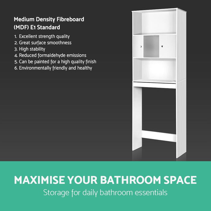 Artiss Bathroom Storage Cabinet - White - Furniture >