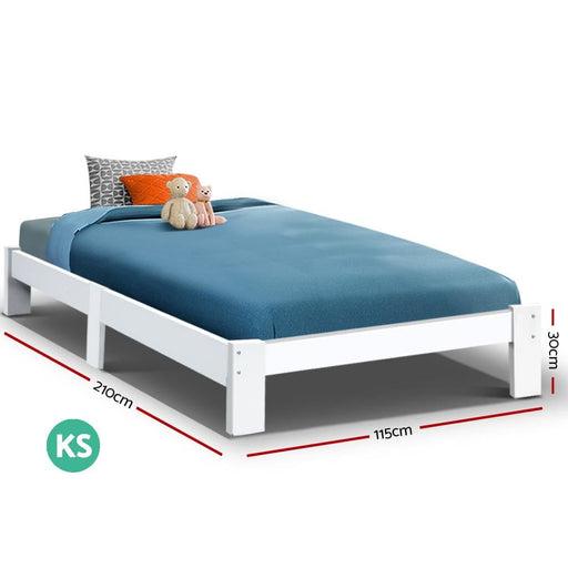 Artiss Bed Frame King Single Size Wooden Mattress Base