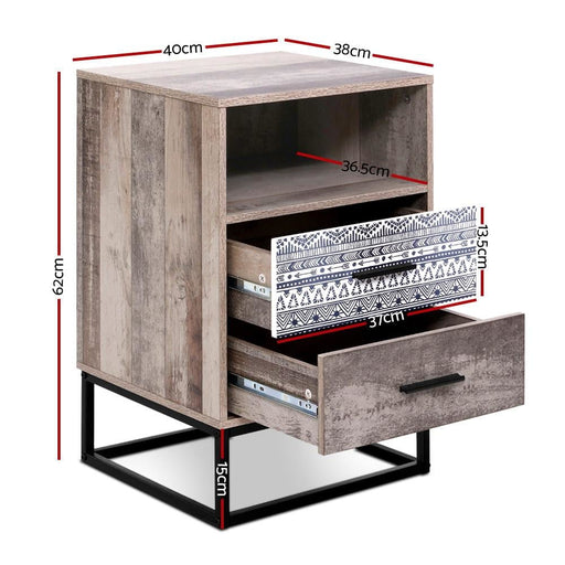Artiss Bedside Tables Drawers side Table Wood Nightstand