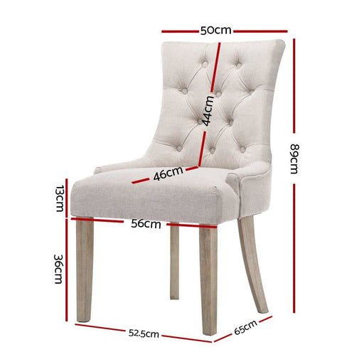 Artiss Cayes French Provincial Dining Chair Beige -
