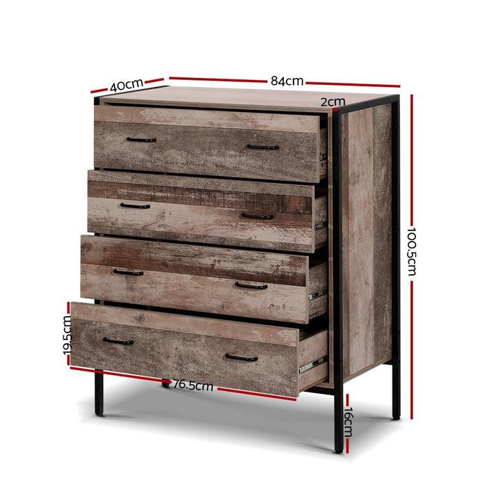 Artiss Chest of Drawers Tallboy Dresser Storage Cabinet