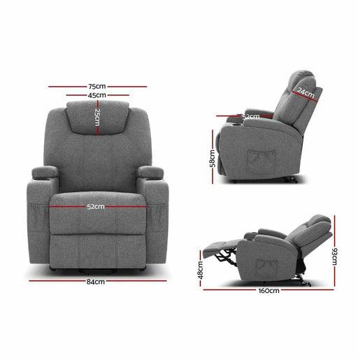 Artiss Electric Massage Chair Recliner Sofa Lift Motor
