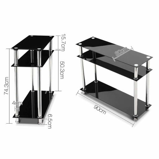 Artiss Entry Hall Console Table - Black & Silver - Furniture