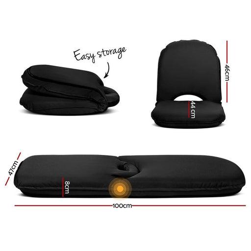 Artiss Foldable Beach Sun Picnic Seat - Black - Furniture >