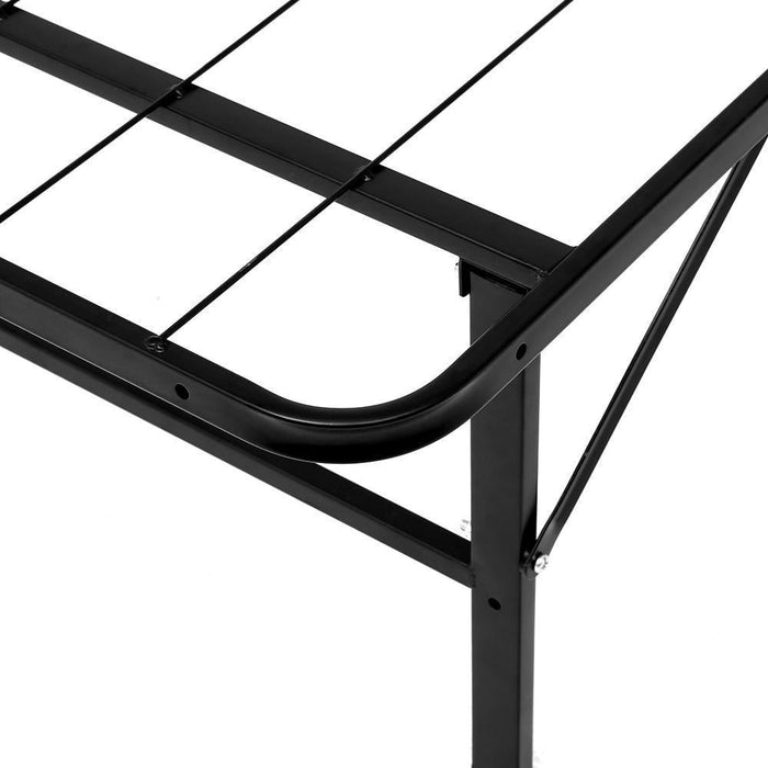 Artiss Foldable Double Metal Bed Frame - Black goslash fast delivery fast delivery