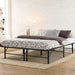 Artiss Foldable Queen Metal Bed Frame - Black - Furniture >