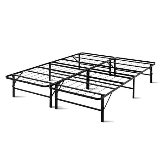 Artiss Foldable Queen Metal Bed Frame - Black goslash fast delivery fast delivery