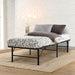 Artiss Foldable Single Metal Bed Frame - Black - Furniture >