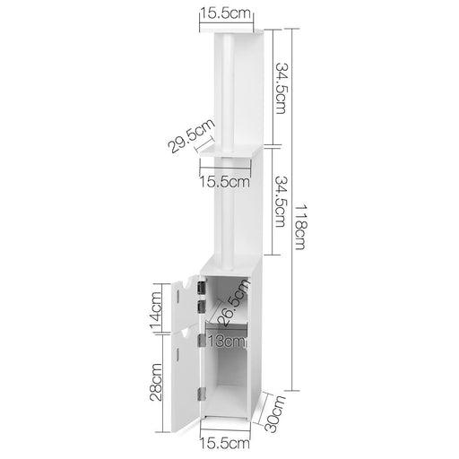 Artiss Freestanding Bathroom Storage Cabinet - White -