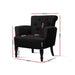 Artiss French Lorraine Chair Retro Wing - Black - Furniture