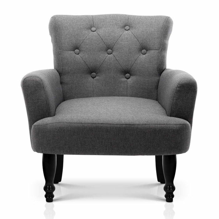 Artiss French Lorraine Chair Retro Wing - Grey goslash fast delivery fast delivery