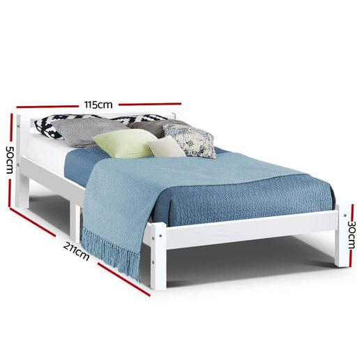 Artiss King Single Size Wooden Bed Frame Mattress Base