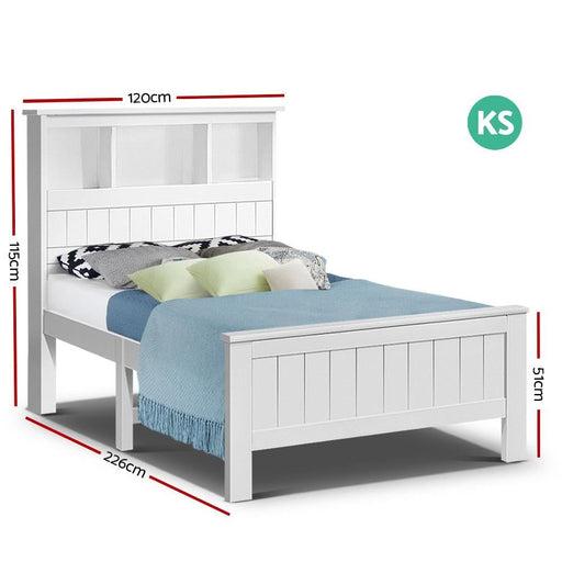Artiss King Single Wooden Timber Bed Frame - Furniture >