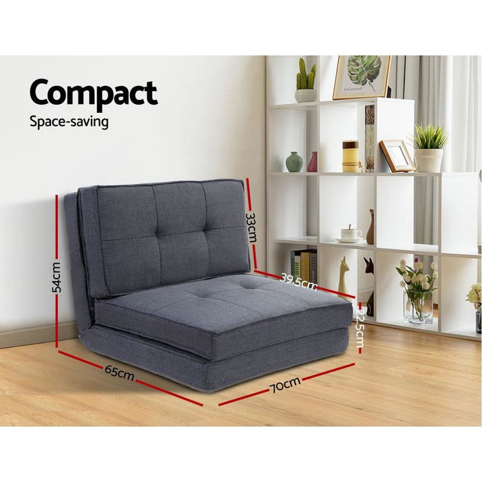 Artiss Lounge Sofa Bed Floor Couch Recliner Chaise Chair