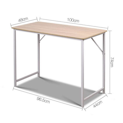 Artiss Minimalist Metal Desk - White - Furniture > Office