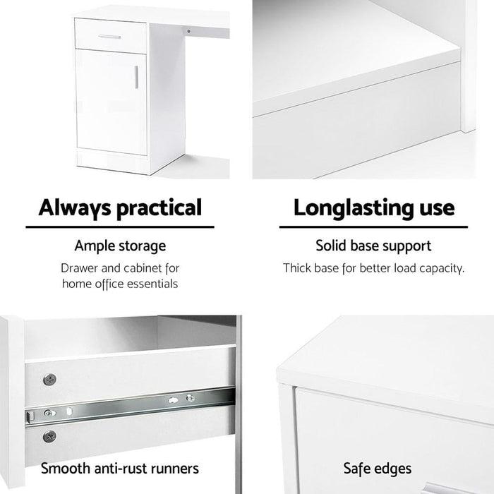 Artiss Office Storage Computer Desk - Furniture > Office
