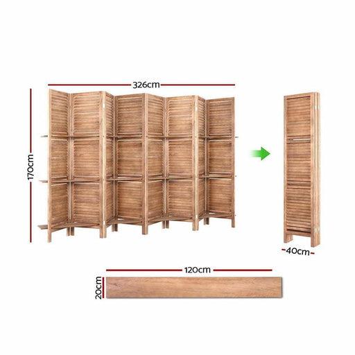 Artiss Room Divider Screen 8 Panel Privacy Dividers Shelf