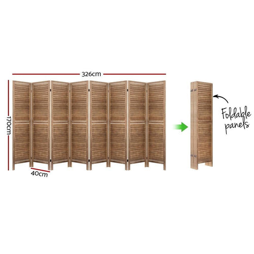 Artiss Room Divider Screen 8 Panel Privacy Wood Dividers