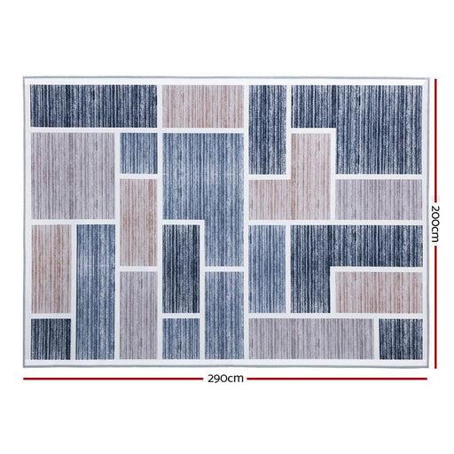 Artiss Short Pile Floor Rug 200x290cm Oblo - Home & Garden