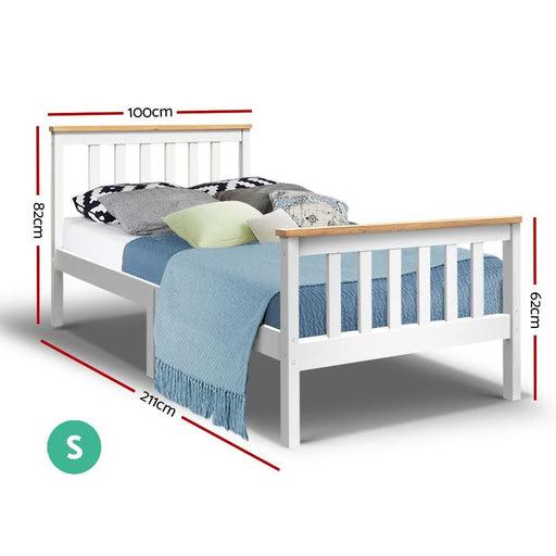 Artiss Single Wooden Bed Frame Bedroom Furniture Kids -
