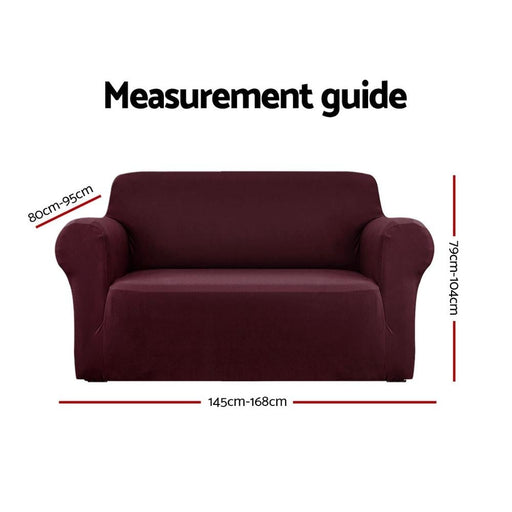 Artiss Sofa Cover Elastic Stretchable Couch Covers Burgundy