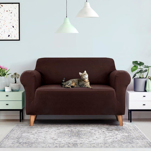 Artiss Sofa Cover Elastic Stretchable Couch Covers Coffee 2