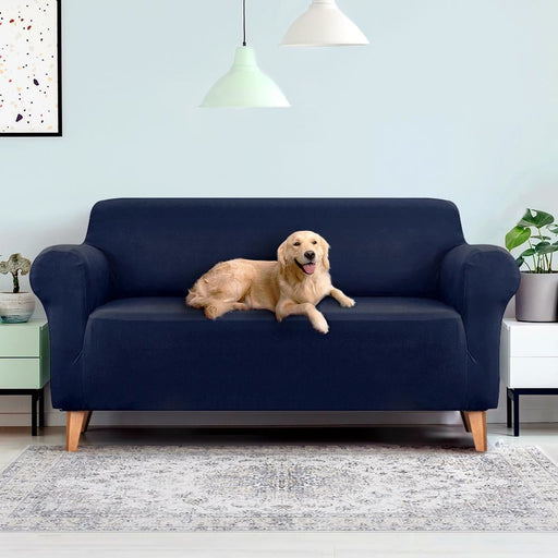 Artiss Sofa Cover Elastic Stretchable Couch Covers Navy 3