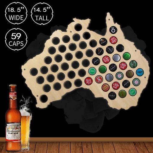Australia Hanging Wooden Map - BEERMAP