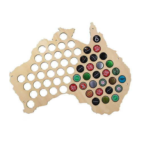 Australia Hanging Wooden Map Creative Beer Cap Map Wall Decor Gift For Cap Collector Modern Design Home Decoration Accessories