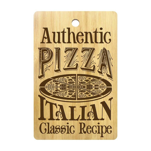 Authentic Pizza Italian Classic Recipe Rectangle Bamboo Pizza Cutting Board Personalized Pizza Chopping Board Pizza Lovers Gift