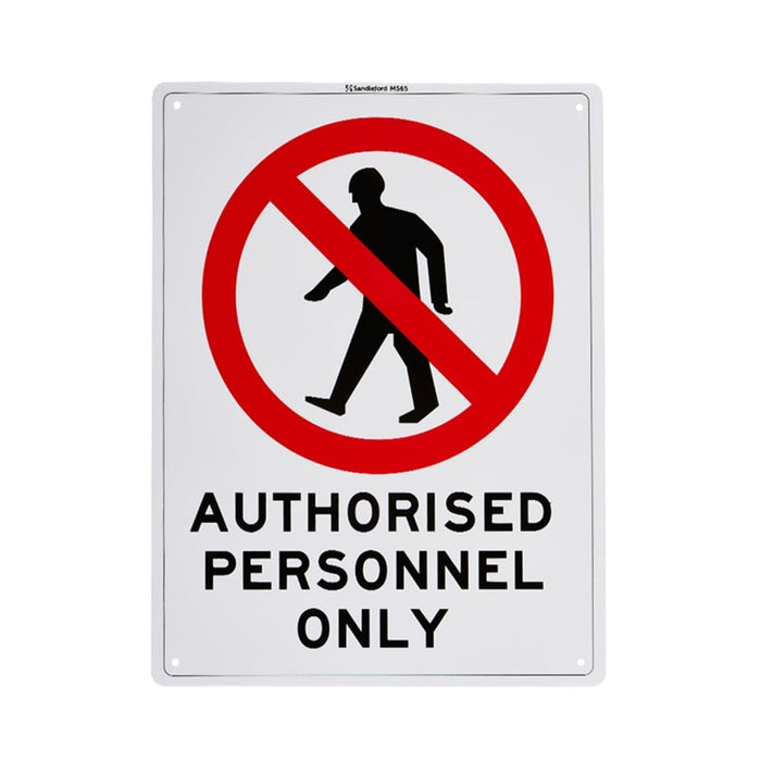 Authorised Personnel Only Plastic Sign goslash fast delivery fast delivery