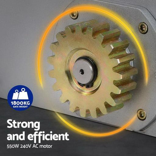Auto Electric Sliding Gate Opener 1800kg 4m Rails - Home &