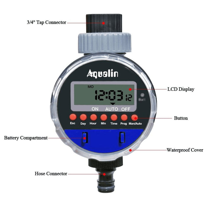 Automatic Electronic Ball Valve Watering Timer Controller