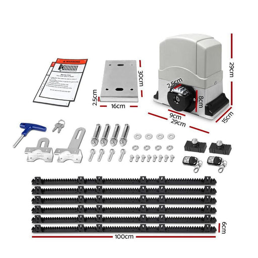 Automatic Sliding Gate Opener & Hardware Kit - Home & Garden