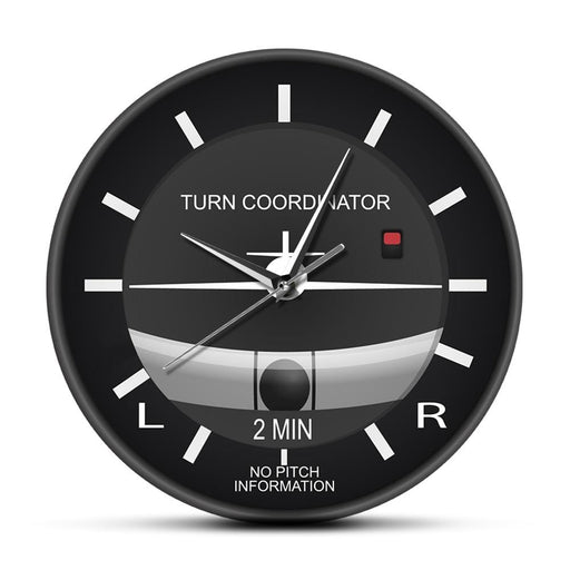 Aviation Classic Silent Non Ticking Wall Clock Aircraft Cockpit Style Face Wall Clock Airplane Instrument Timepiece Pilots Gift