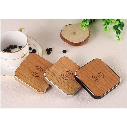 SZYSGSD Bamboo Wood Portable Qi Wireless Charger Fast Charging Pad For Samsung S9 S7 S8 Note 8 For iPhone X XR 8 8 Plus Wood Qi