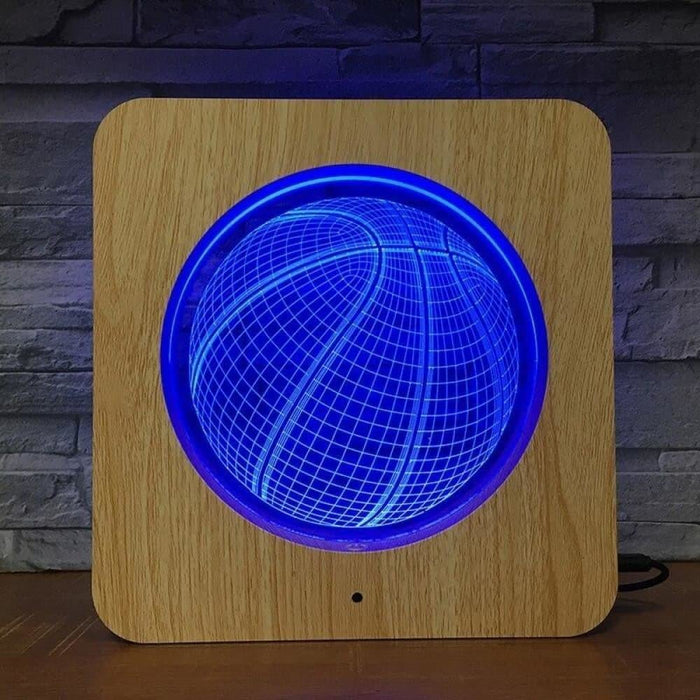 Basketball 3D Wooden Grain Night Light DIY Customized Lamp Table Lamp Friends Birthday Colors Gift Home Decor Fast DropShipping