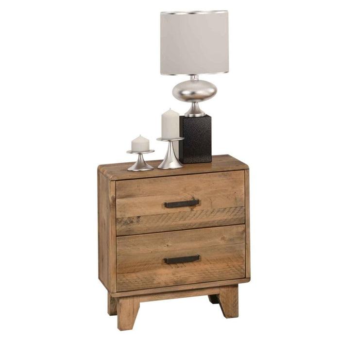 Woodstyle Bedside 2 Drawers - Furniture > Bedroom