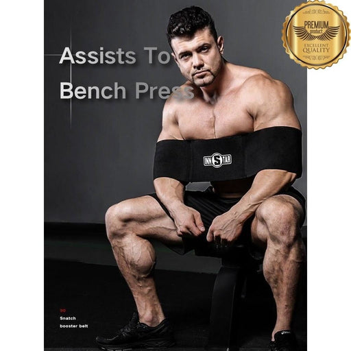 INNSTAR Bench Press Band Strength Protection Weightlifting Resistance Bands Fitness Elbow Pads Joints Support  Bandage