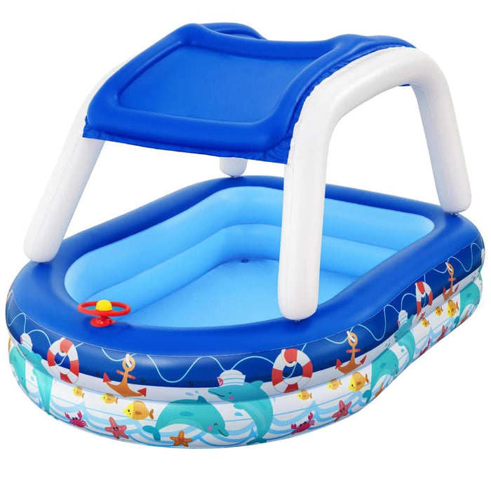Bestway Kids Play Pools Above Ground Inflatable Swimming Pool Canopy Sunshade