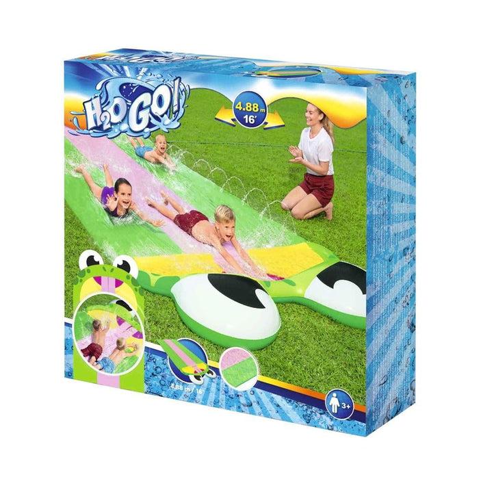 Bestway Triple Water Slip And Slide Kids Inflatable Splash