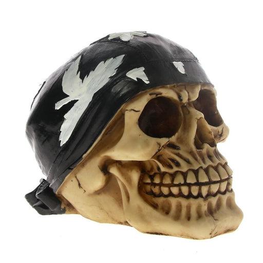 Motorcycle Biker Bandana Scarf Skull Ghost Rider Skeleton Figure Horror Skull Collectible Figurine Statue Sculpture Figure