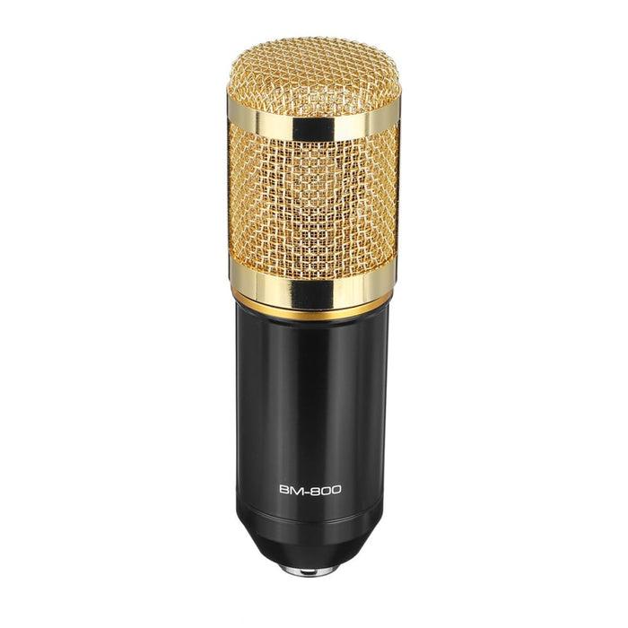BM800 Pro Condenser Microphone Kit Studio Suspension Boom Scissor Arm Stand with Fliter