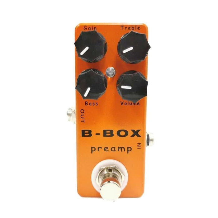 MOSKY B-Box Electric Guitar Preamp Overdrive Effect Pedal True Bypass Full Metal Shell Guitar Parts & Accessories