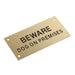 Brass Beware Dog On-Premises Sign goslash fast delivery fast delivery