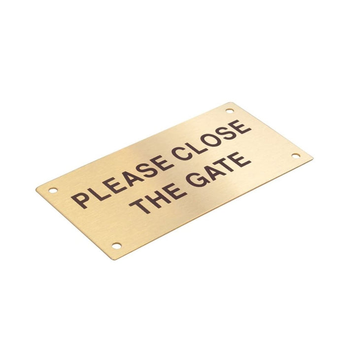 Brass Please Close The Gate Sign goslash fast delivery fast delivery